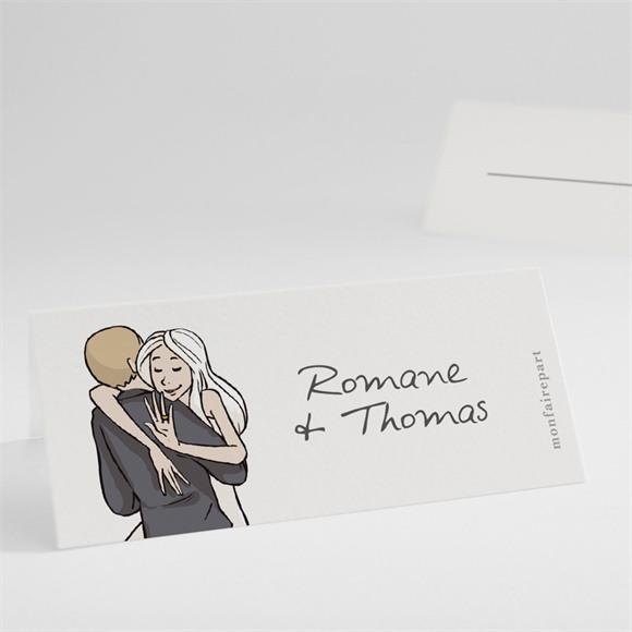 Marque-place mariage Mariés illustrés réf.N440582