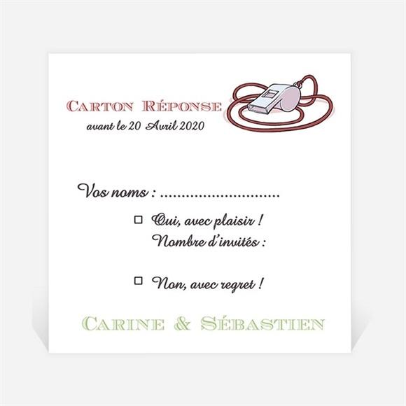 Carton réponse mariage Humour et Rugby réf.N3001123