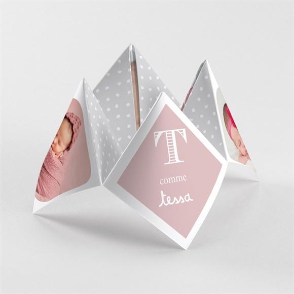 Faire-part naissance cocotte rose réf.N33035