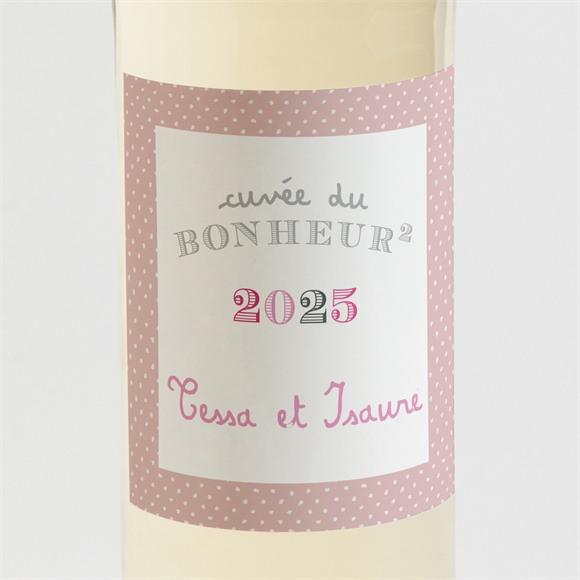 Etiquette de bouteille naissance cocotte rose réf.N3001126