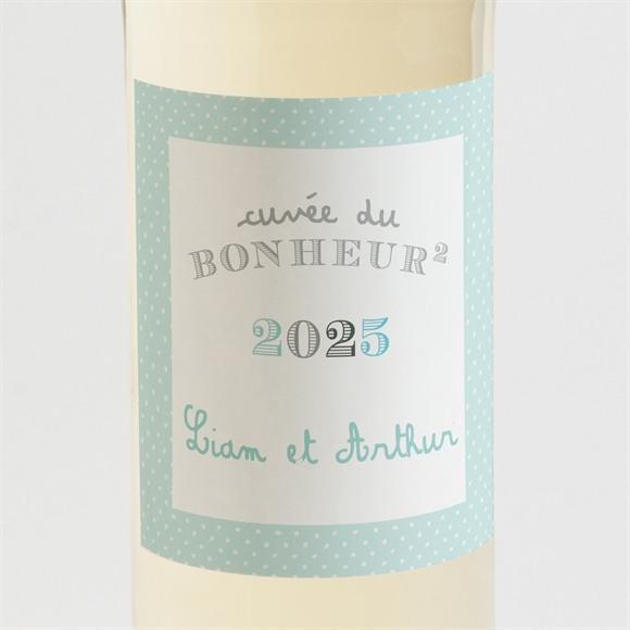 Etiquette de bouteille naissance Douce poésie réf.N3001128