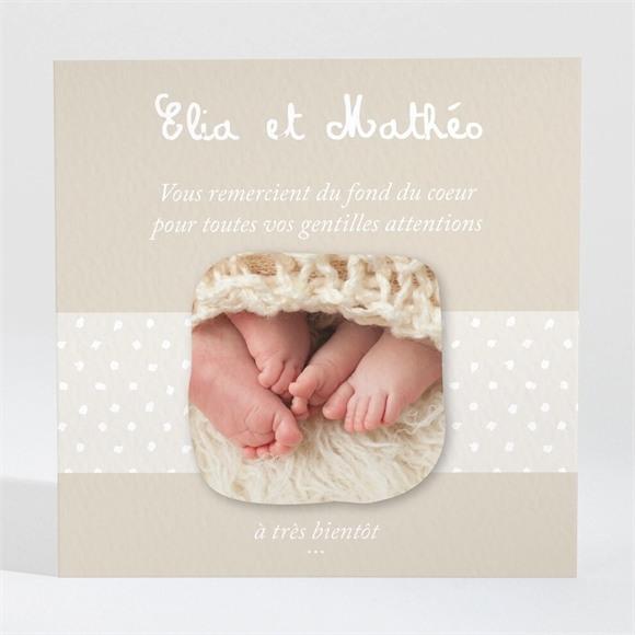 Remerciement naissance Petits pieds et petites mains réf.N3001129