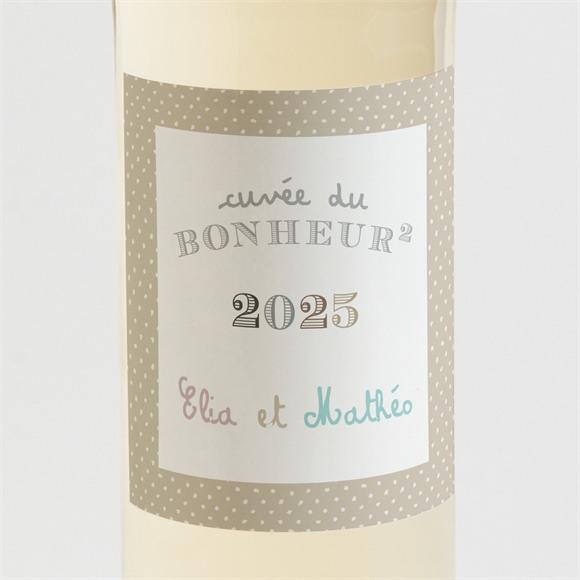 Etiquette de bouteille naissance Petits pieds et petites mains réf.N3001130