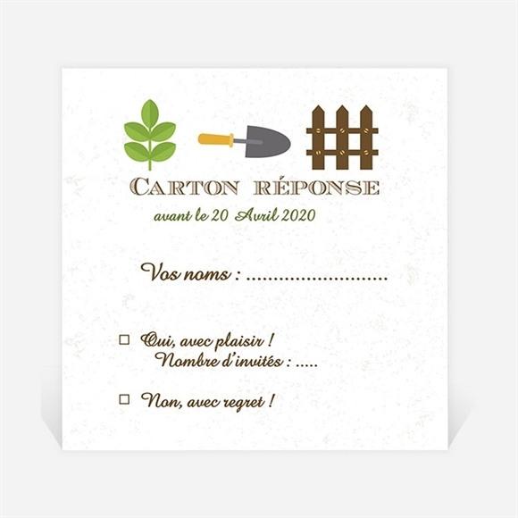 Carton réponse départ à la retraite Loisirs et jardinage réf.N3001149
