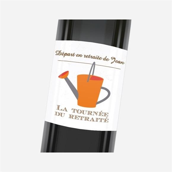 Etiquette de bouteille départ retraite Loisirs et jardinage réf.N3001150