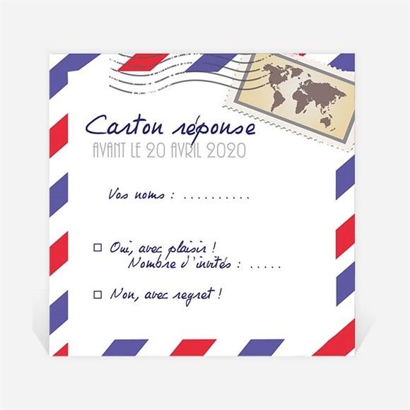 Carton réponse départ à la retraite Décollage imminent réf.N3001147