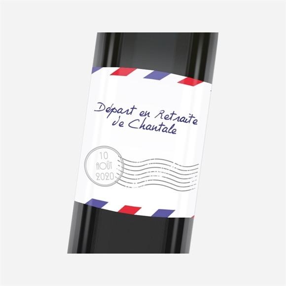 Etiquette de bouteille départ retraite Décollage imminent réf.N3001148