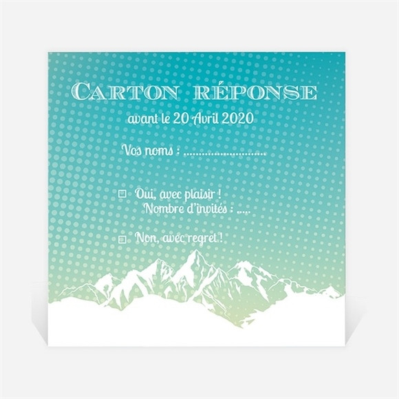 Carton réponse départ à la retraite Profiter de la Montagne réf.N3001151