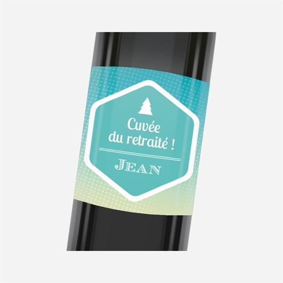 Etiquette de bouteille départ retraite Profiter de la Montagne réf.N3001152
