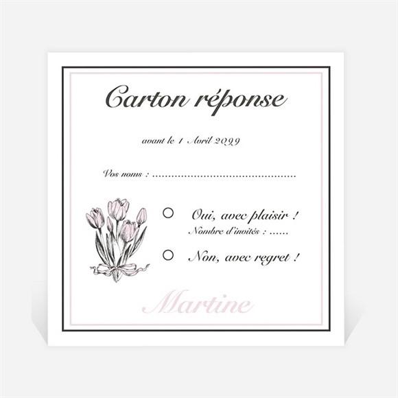 Carton réponse départ à la retraite Gravure sur bois réf.N3001153