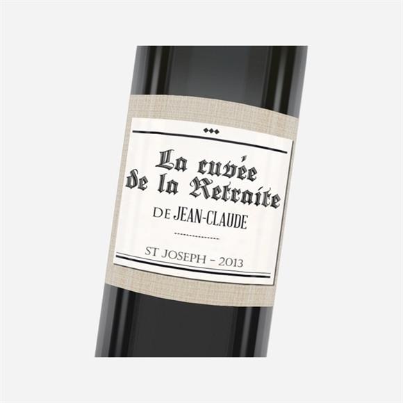 Etiquette de bouteille départ retraite Dans les kiosques réf.N3001162