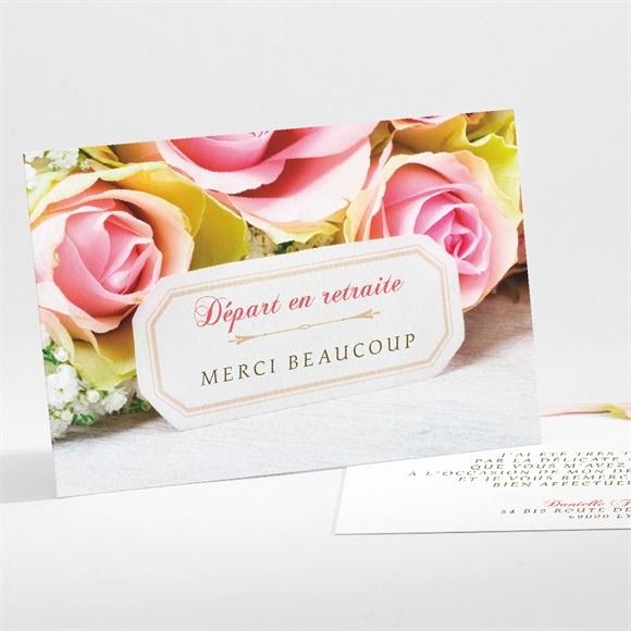 Remerciement départ à la retraite Invitation florale réf.N111141