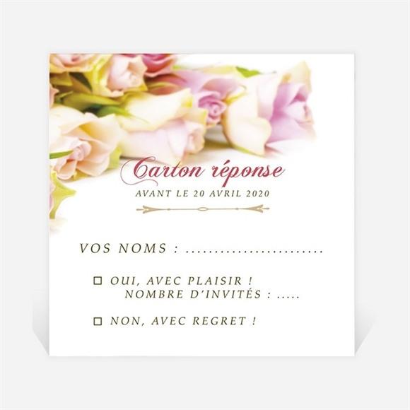 Carton réponse départ à la retraite Invitation florale réf.N3001165