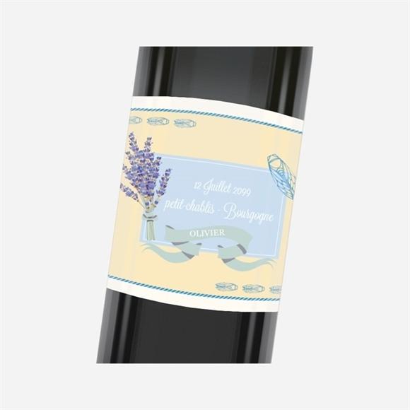 Etiquette de bouteille départ retraite Cigales et Lavande réf.N3001158
