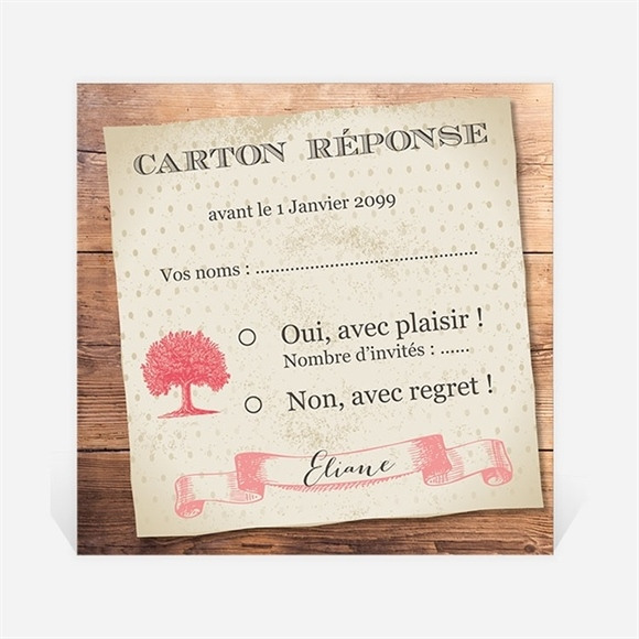 Carton réponse départ à la retraite Un beau Chêne réf.N3001163