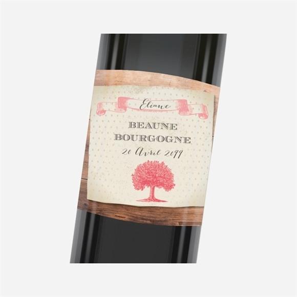 Etiquette de bouteille départ retraite Un beau Chêne réf.N3001164