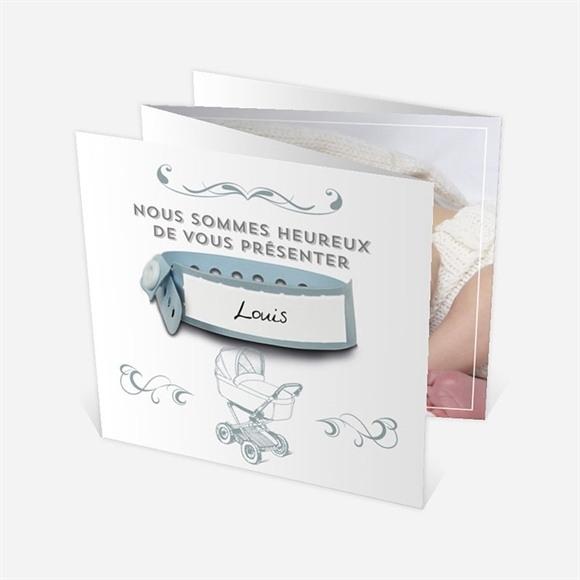 Faire-part naissance Accordéon avec bracelet réf.N83033