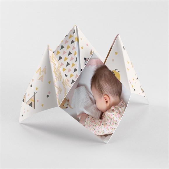 Faire-part naissance Motifs géométriques réf.N33045