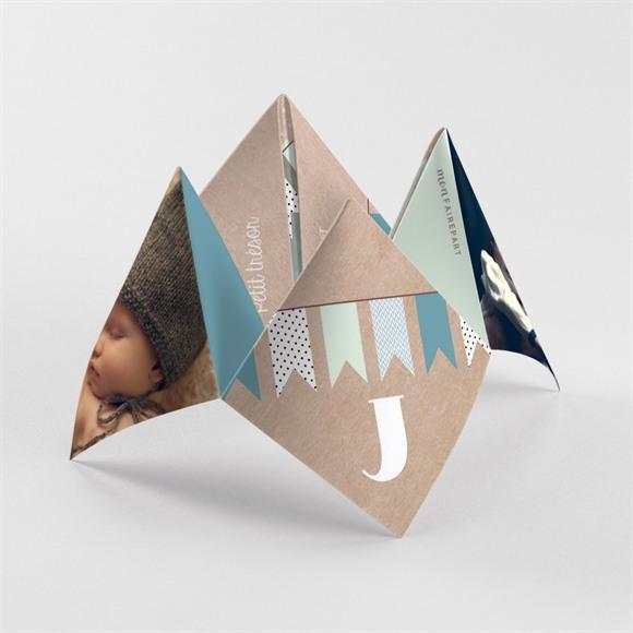 Faire-part naissance Fanions et photo réf.N33050