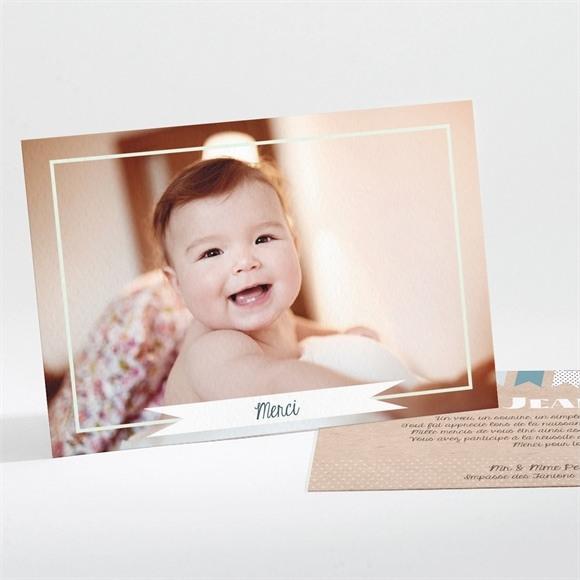 Remerciement naissance Fanions et photo réf.N111147