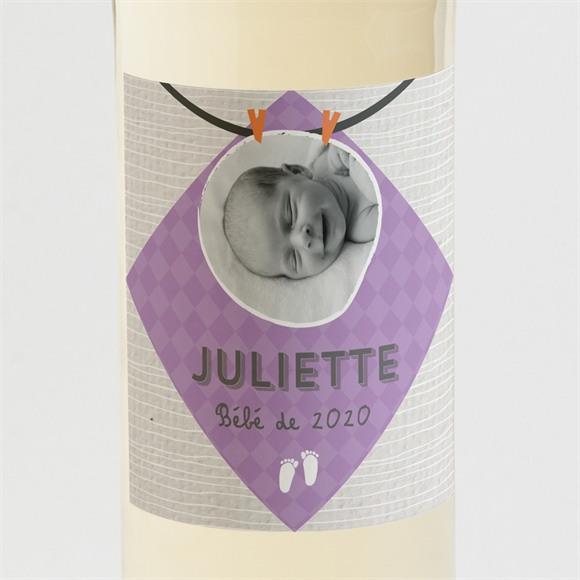 Etiquette de bouteille naissance original et sympa réf.N3001180