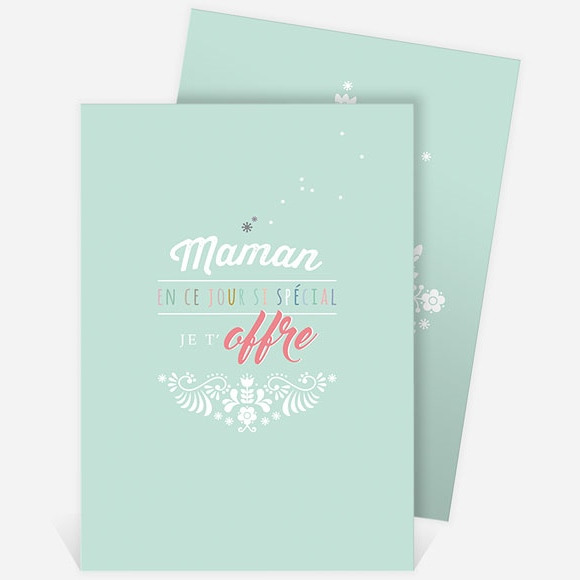 Carte fête des mères réf. N211115 réf.N211115