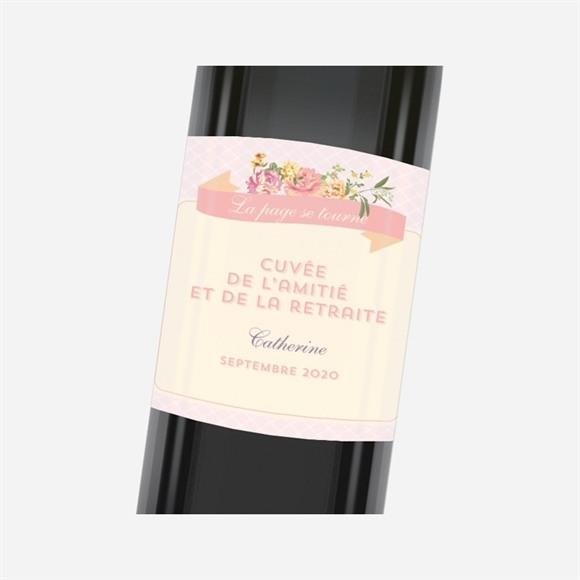 Etiquette de bouteille départ retraite Vent printanier réf.N3001196