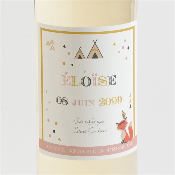 Etiquette de bouteille naissance Motifs géométriques réf.N3001197