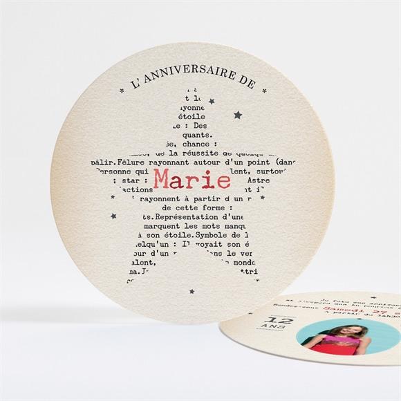 Invitation anniversaire Vive la Star! réf.N32183