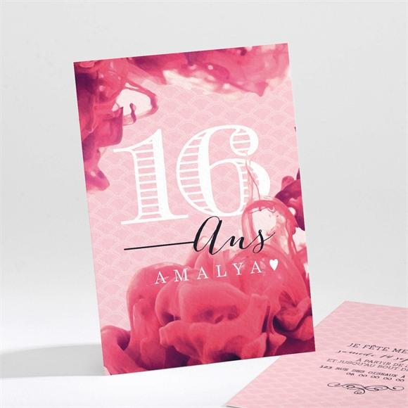 Invitation anniversaire Belles fleurs réf.N211121