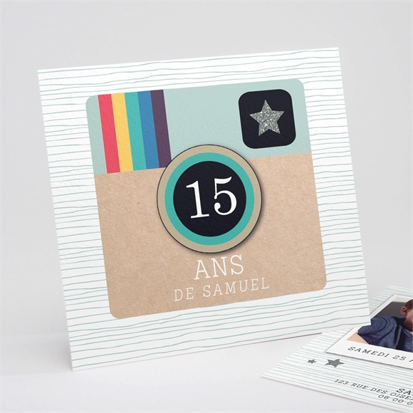 Invitation anniversaire Carte vintage anniversaire réf.N311153