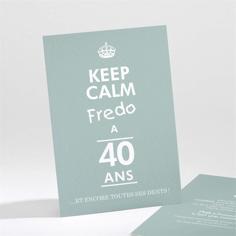 Invitation anniversaire Keep Calm 40 ans réf.N211123