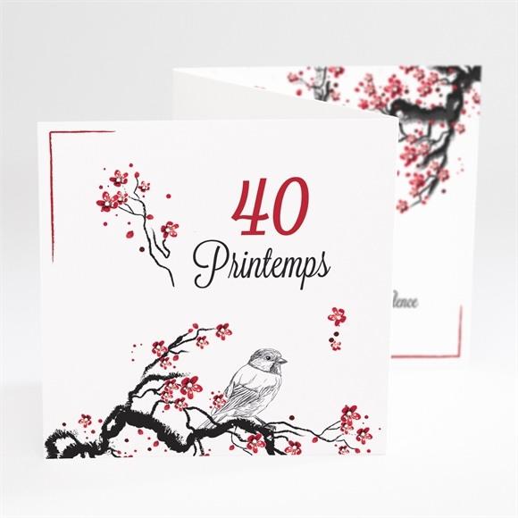 Invitation anniversaire 40 printemps réf.N81038