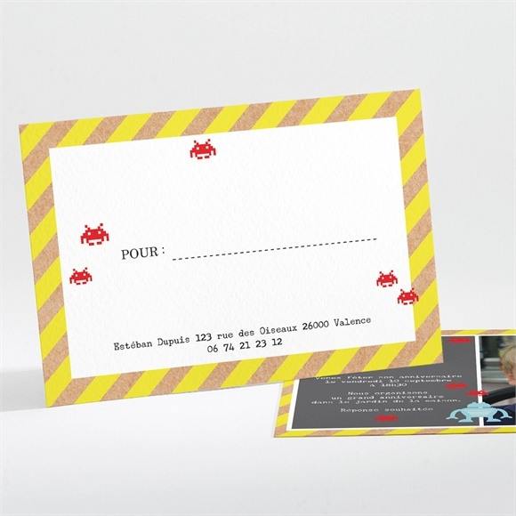 Invitation anniversaire Jeu Video réf.N111155