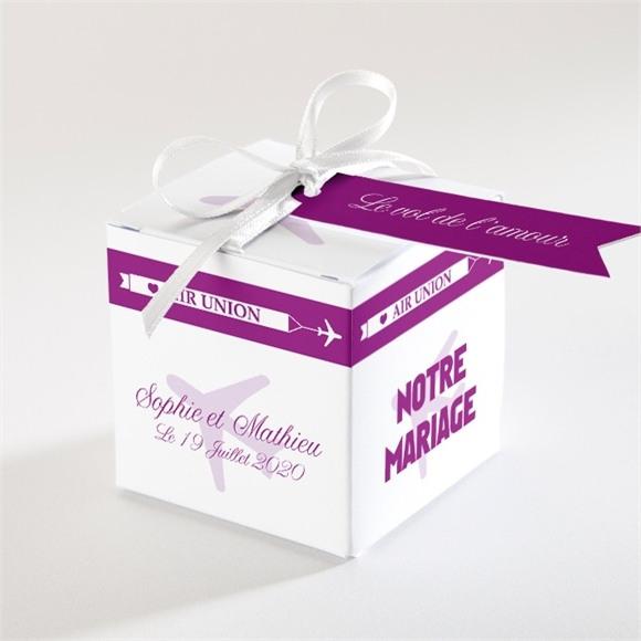 Boîte de dragées mariage Air Union réf.N34001
