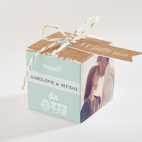 Boîte de dragées mariage Petite cocotte réf.N34006