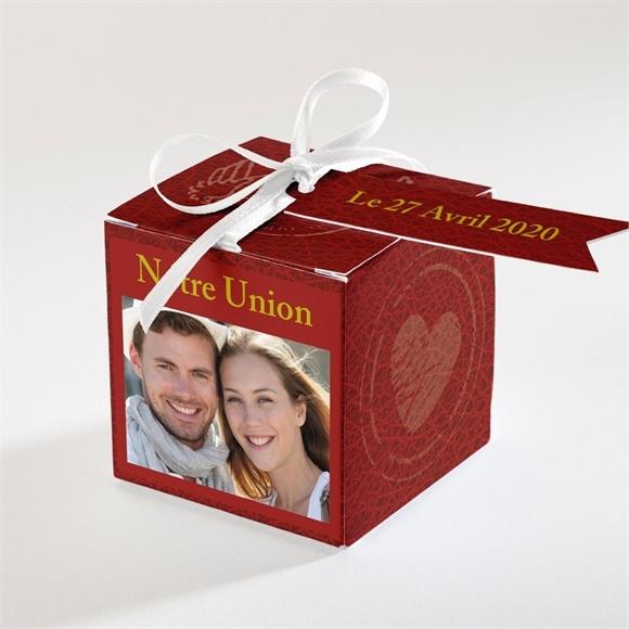 Boîte de dragées mariage Passeport de l'Amour réf.N34007
