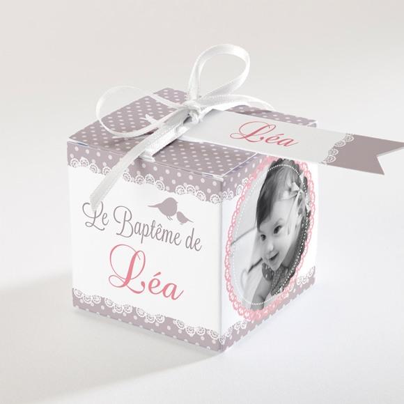 Boîte de dragées baptême Rondeur et douceur! réf.N34018