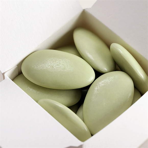 Dragées mariage amande Avola vert anis