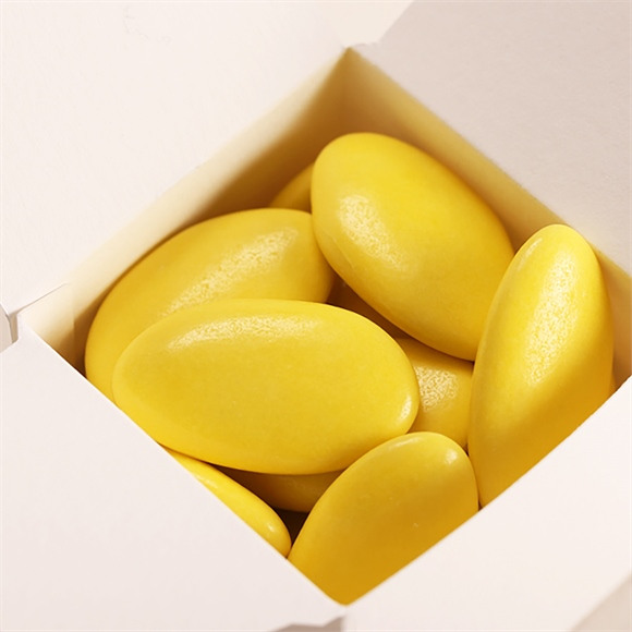 Dragées baptême chocolat vert anis