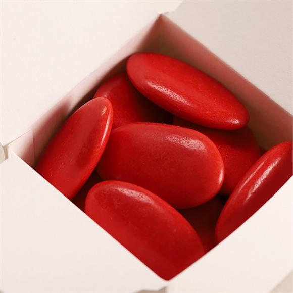 Dragées baptême chocolat rose framboise