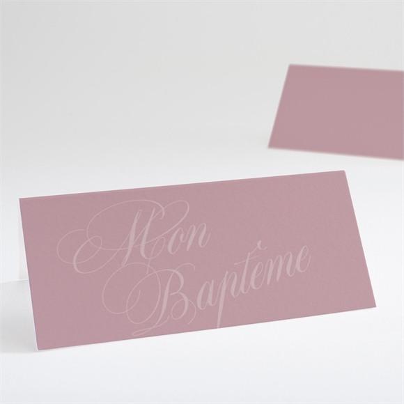 Marque-place baptême Poudre rose réf.N440588