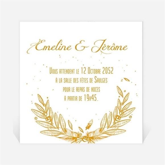 Carton d'invitation mariage Photo classique réf.N3001208