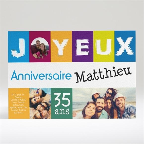 Carte anniversaire réf. N14033 réf.N14033