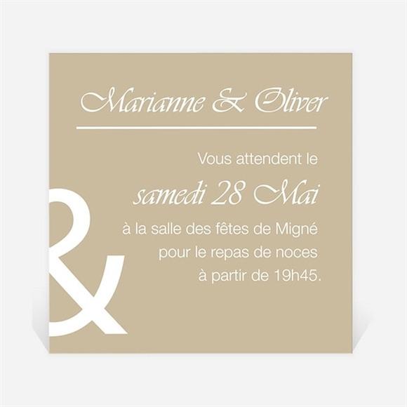 Carton d'invitation mariage Classique vintage réf.N300855