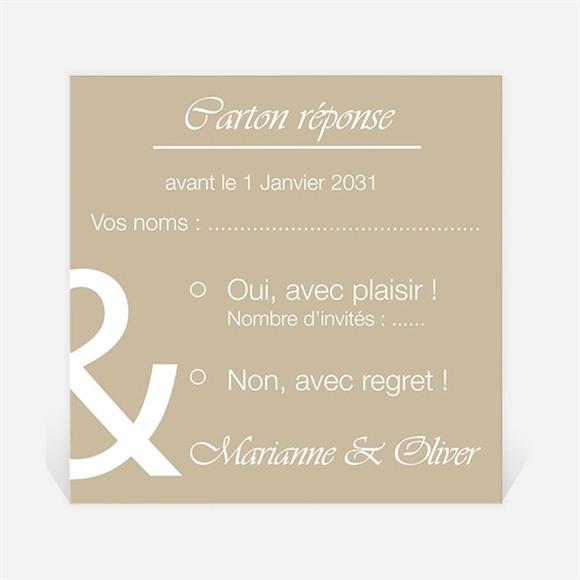 Carton réponse mariage Classique vintage réf.N300856