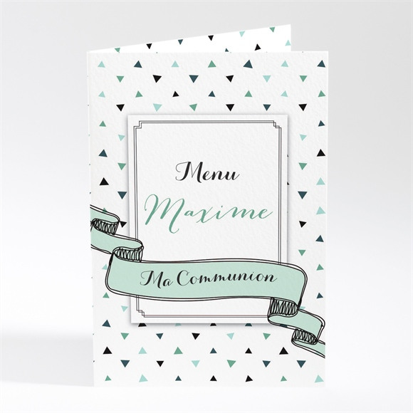 Menu communion Moderne chic réf.N401742