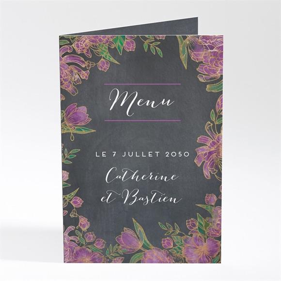 Menu mariage Ardoise fleurie réf.N401743