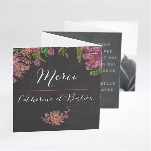 Remerciement mariage Ardoise fleurie réf.N800118