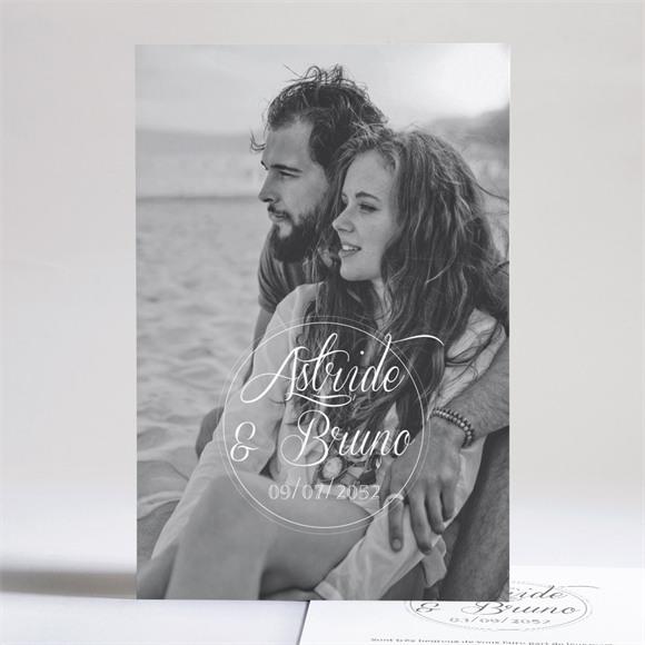 Faire-part mariage Inscription sur photo réf.N241150